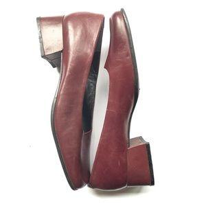 Nine West burgundy cloud 9 heels loafers 8